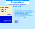 Hilbert Neue Fonts Screenshot 0