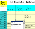 Daily Shifts and Tasks for 25 Employees Screenshot 0