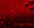 Skull Factory Halloween Wallpaper Screenshot 0