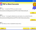 Easy-to-Use PDF to Word Converter Screenshot 0
