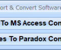 MS Access Paradox Import, Export & Convert Software Screenshot 0