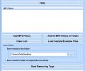 MP3 Remove ID3 Tags From Multiple Files Software Screenshot 0