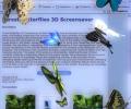 Desktop Butterflies 3D Screensaver Screenshot 0