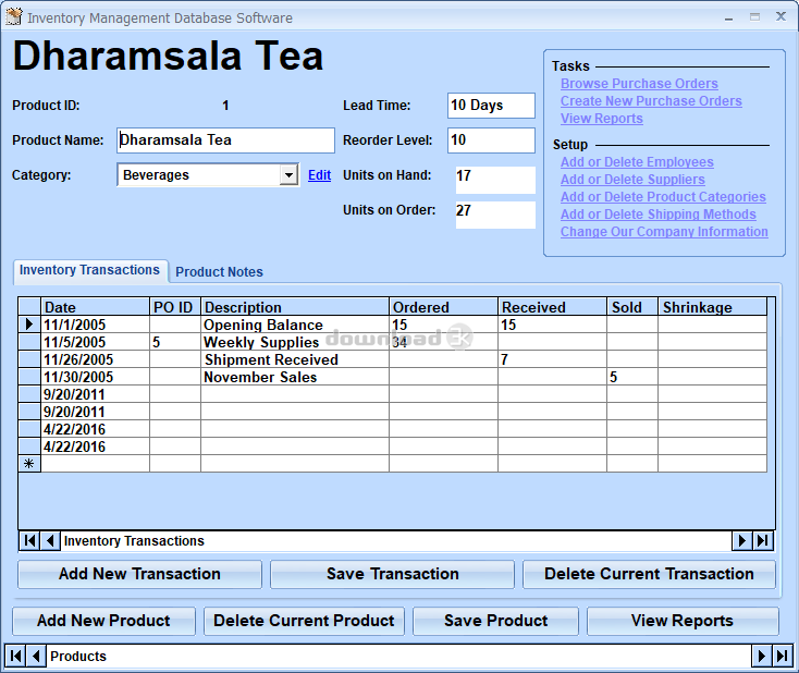 Télécharger Inventory Management Database Software 7.0
