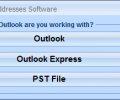 Outlook Extract Email Addresses Software Screenshot 0