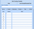 MS Word Weekly Appointment Planner Template Software Screenshot 0