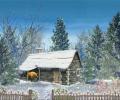 Snowy Hut - Animated Wallpaper Screenshot 0