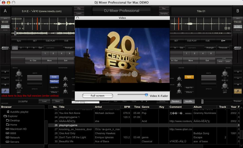 t l charger dj mixer pro for mac 2 0 3 essai gratuit le meilleur logiciel de mixage dj pour. Black Bedroom Furniture Sets. Home Design Ideas