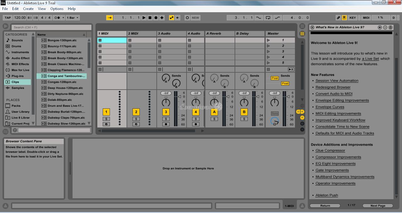 Ableton Live se décline en trois versions, Intro pour débuter avec des fonctionnalités de base, Standard et Suite pour bénéficier d'un nombre illimité de scènes et de pistes audio. Chaque ...